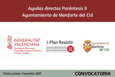 Ayudas Económicas Covid 19 - Ayuntamiento de Monforte del Cid