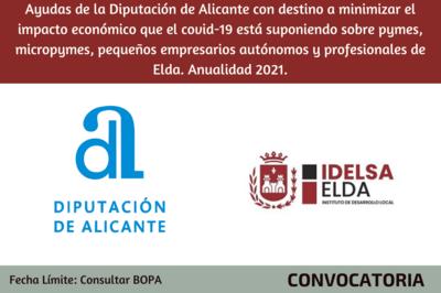 Ayudas Empresas Diputación 2021 - Ayuntamiento de Elda