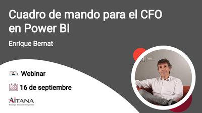 Webinar Cuadro de mando para el CFO en Power BI