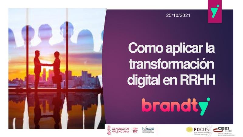 Cómo aplicar la transformación digital en la gestión de los RRHH