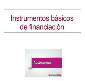 Manual para Autónomos: Instrumentos básicos de financiación