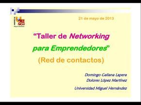 """""""Taller de Networking para Emprendedores"""" (Red de contactos)"""