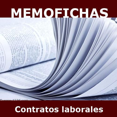 CONTRATOS LABORALES memofichas