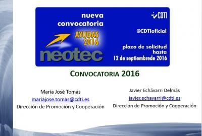 Iniciativas y apoyo en el ámbito nacional: Programa NEOTEC