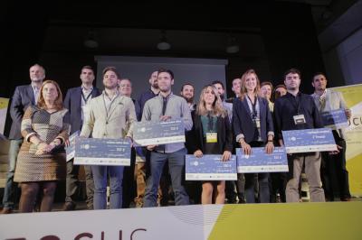 Los premiados del Concurso Startups 5UCV