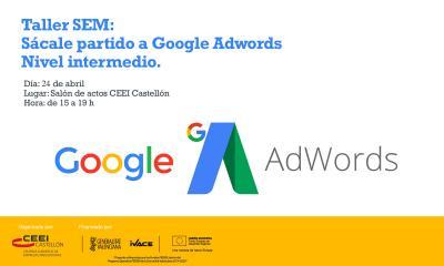 """SEM """"Sácale partido a Google Adwords"""" (nivel intermedio)"""