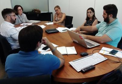 Els components del grup de treball d'Innovació Tecnològica, en la segona reunió