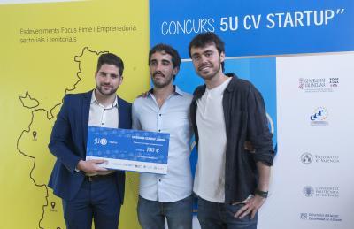 Entrega de premios Concurso 5U CV Startup