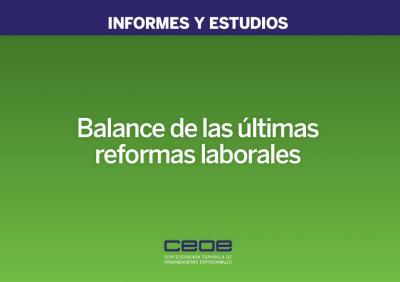 Balance de las últimas reformas laborables