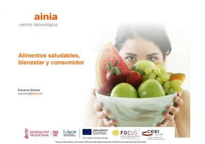 Alimentos saludables, bienestar y consumidor