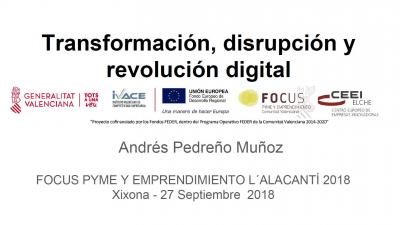 Transformación, disrupción y revolución digital