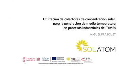 Utilización de colectores de concentración solar, para la generación de ...