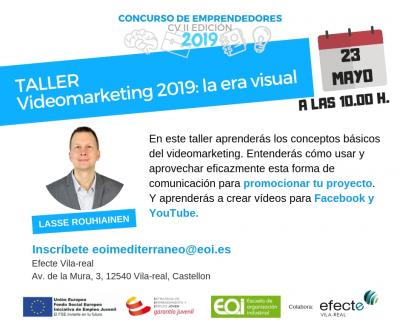 "Taller ""Videomarketing 2019: la era visual"""