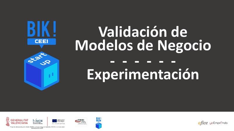 Experimentación - Validación de Modelos de Negocio - BIKSTARTUP