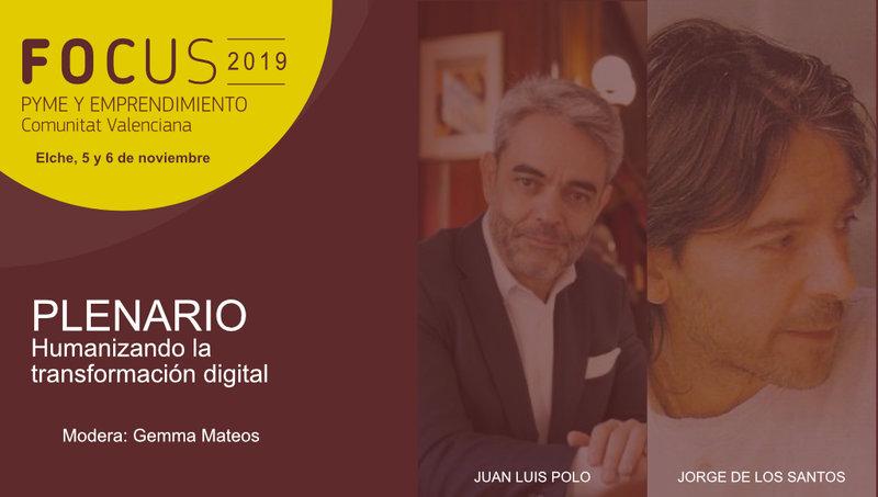 Focus Pyme CV contará con los testimonios de Juan Luis Polo y Jorge de los Santos