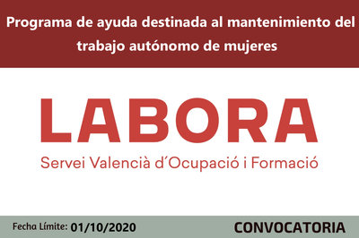 Programa de ayudas al mantenimiento del trabajo autónomo de mujeres