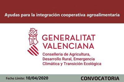 Ayudas para la integración cooperativa agroalimentaria