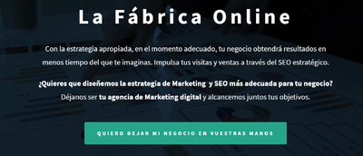 Servicios de Marketing Digital. La fabrica online