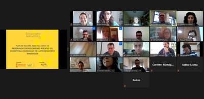 Sesión telemática con los agentes del ecosistema