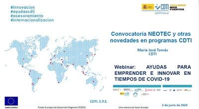 Convocatoria NEOTEC y otros programas CDTI
