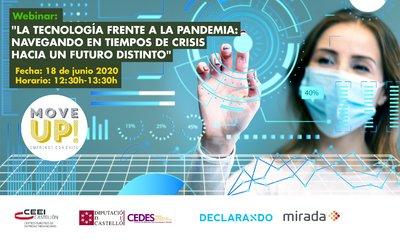 """Webinar: """"La tecnología frente a la pandemia: navegando en tiempos de crisis hacia un futuro distinto"""""""