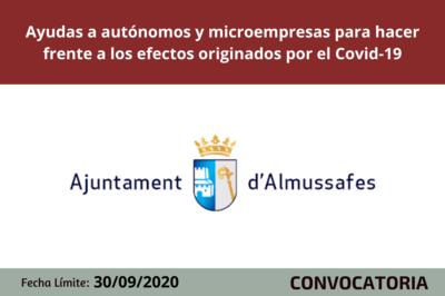 Ayudas a autónomos y microempresas para hacer frente a los efectos originados por el Covid-19