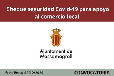 Cheque seguridad Covid al comercio local