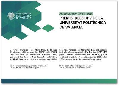Entrega premios IDEAS UPV 2020