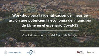 Identificación líneas de acción que potencien la economía de Elche en el escenario Covid 19