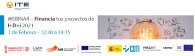 Webinar – Financia tus proyectos de I+D+i 2021