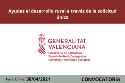 Concesión de ayudas al desarrollo rural a través de la solicitud única