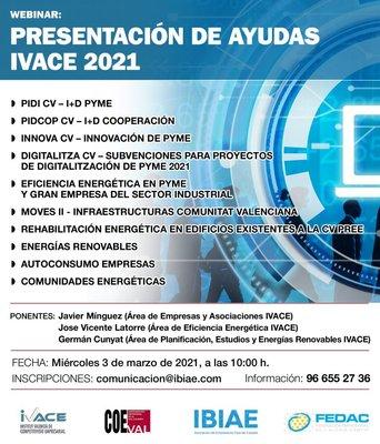 Presentación de ayudas IVACE 2021