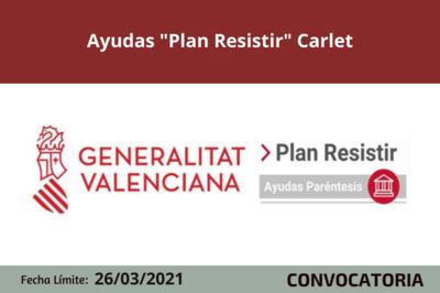 """Ayudas """"Plan Resistir"""" en Carlet"""