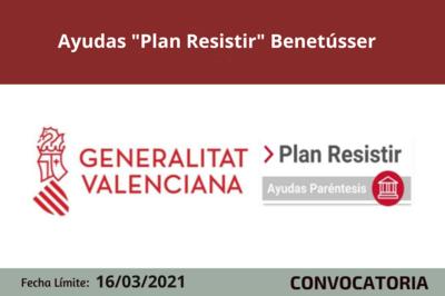 """Ayudas """"Plan Resistir"""" en Benetússer"""
