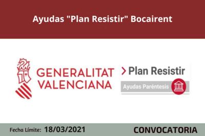 "Ayudas ""Plan Resistir"" en Bocairent"