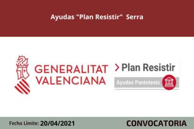 "Ayudas ""Plan Resistir"" Serra"