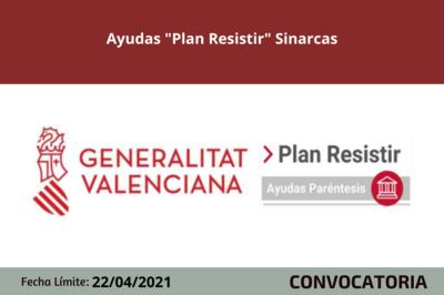 "Ayudas ""Plan Resistir"" Sinarcas"
