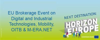 Evento de intermediación de la UE sobre Tecnologías digitales e industriales, Movilidad, OITB y M-ERA.NET