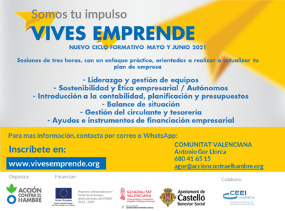 CARTEL talleres 2021 vives emprende cv